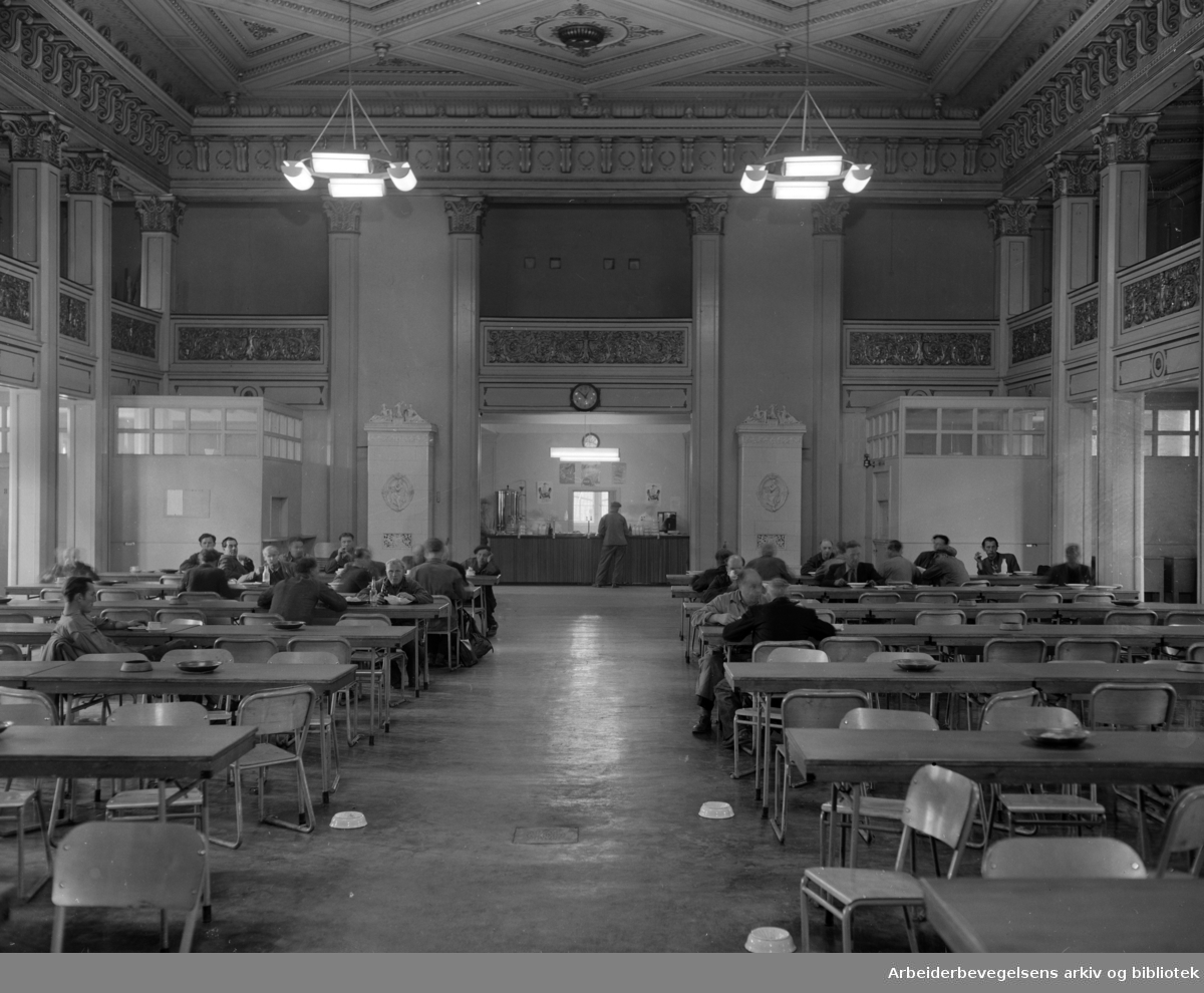 Losse og Lastekontor (gamle Logen). Interiører..September 1951