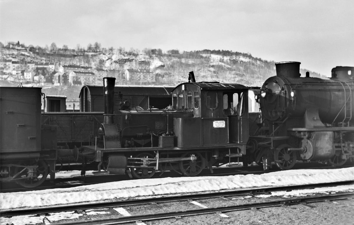 Hensatt damplokomotiv type 7a nr. 84 i Lodalen i Oslo.