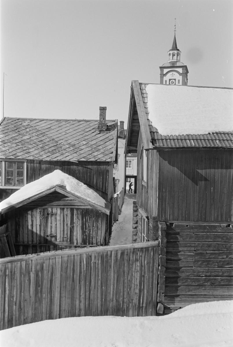 Utsyn over bebyggelse på Røros.