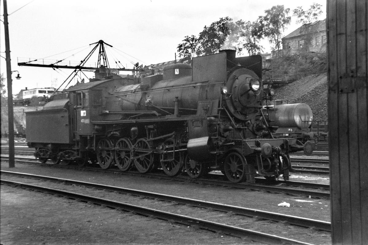 Damplokomotiv type 26c nr. 433 utenfor Gamlestallen i Lodalen i Oslo.