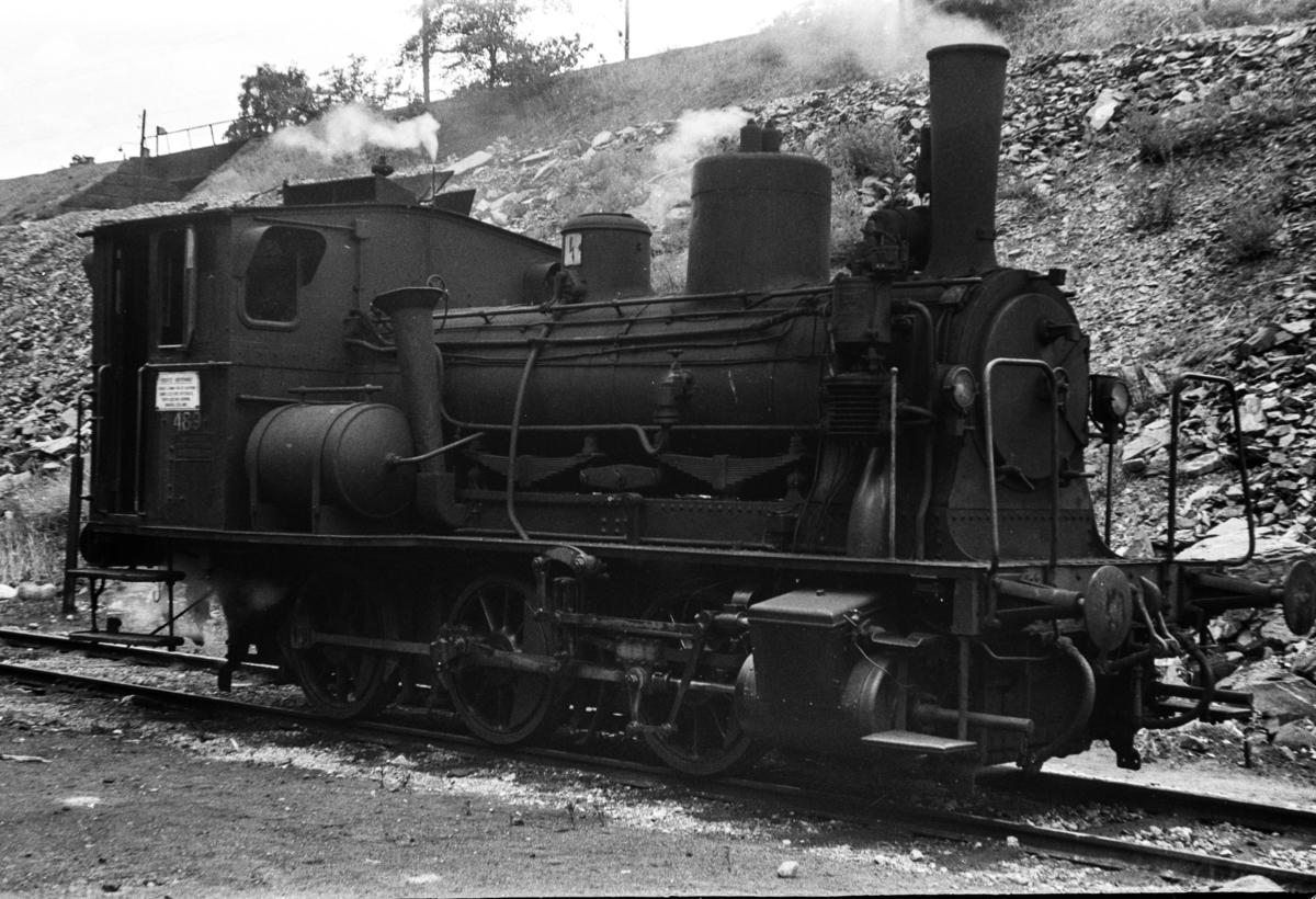 Damplokomotiv type 25e nr. 489 i Lodalen i Oslo.