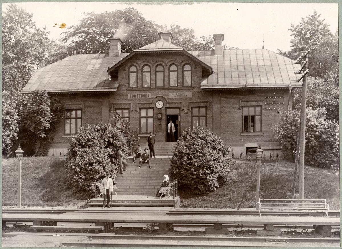 Statens Järnvägar, SJ, Tomteboda station år 1900 då personstationen för lokaltågen på Sunbyberg, Uppsala, Märsta, Rotebro och Järfva.