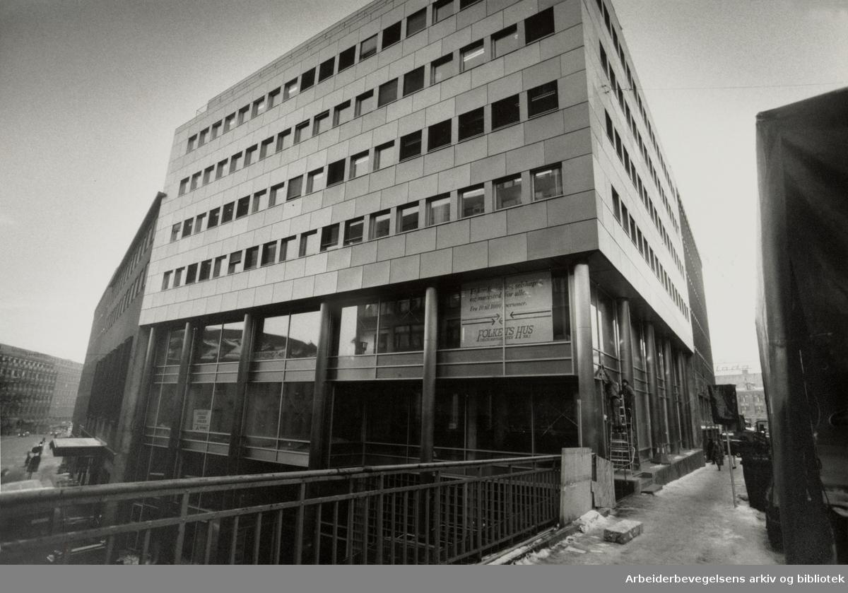 Folkets Hus. Tredje og siste byggetrinn. Oktober 1988