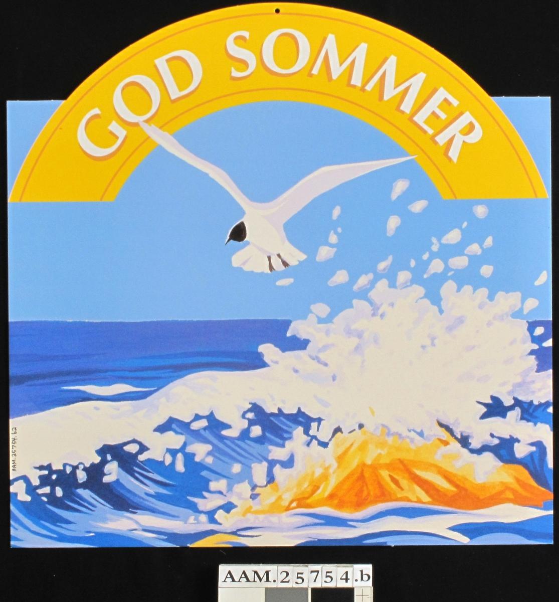 Sjø og sommer, seilbåt, terne, fyrlykt, redningsbøye.