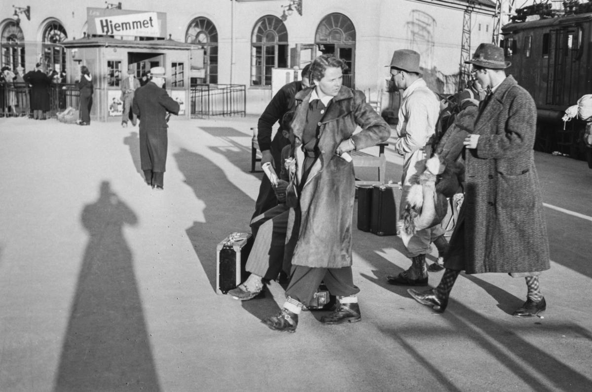 Påsketog har ankommet Oslo Vestbanestasjon.