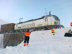 Elektrisk lokomotiv type BR 193 Vectron med godstog 5502 fra