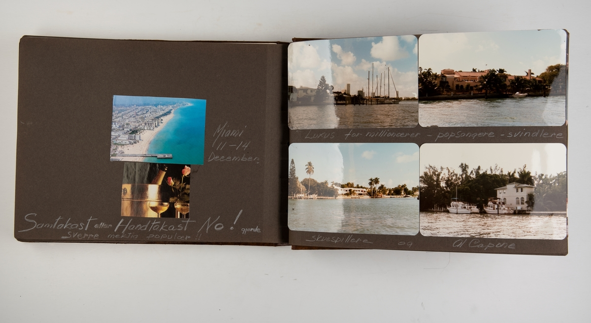 Album med fotografier fra cruise med 'Nordic Prince' i 1985. Cruise til Miami, Martinique og St. Martin.
