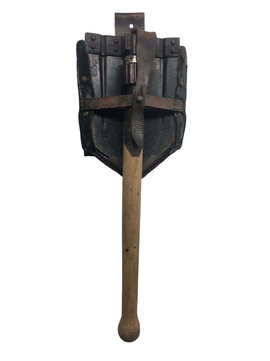 Sammenleggbar spade med futteral