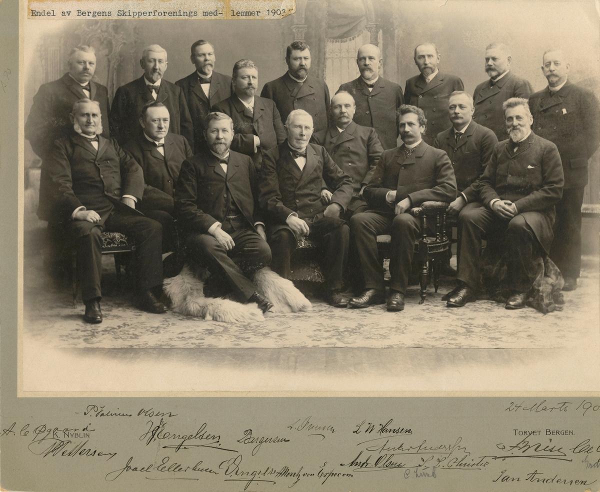 Noen av medlemmene i Bergens Skipperforening i 1903