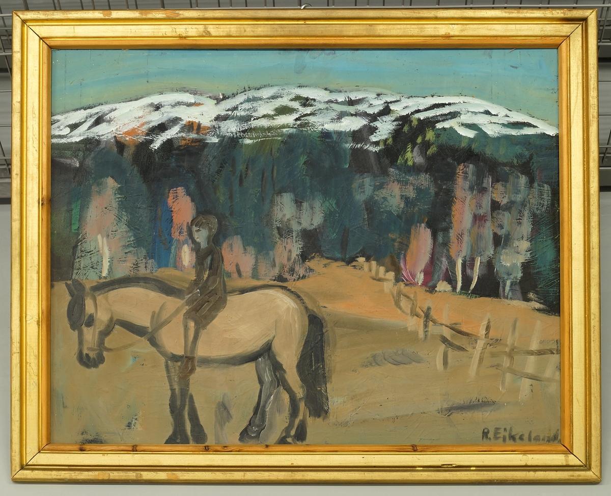 Pike på hest [Maleri]