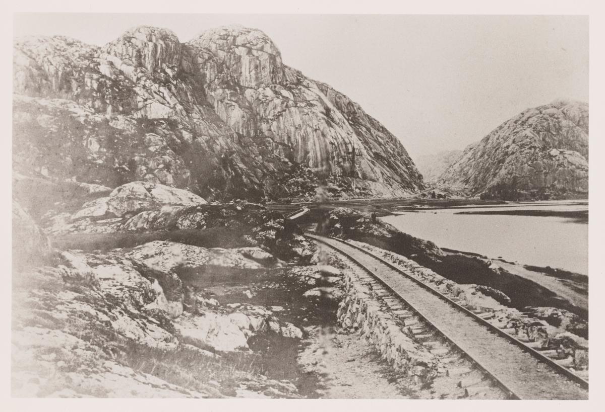 Parti på Blåfjellbanen ved Refsvatnet