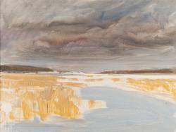 Vinterskärgård, Vänern [Oljemålning]