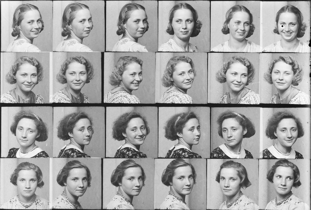 Ateljéporträtt - kvinnor, Östhammar, Uppland
