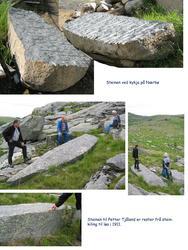 Befaring på Jæren for å finna stein som kan vera sokkel for