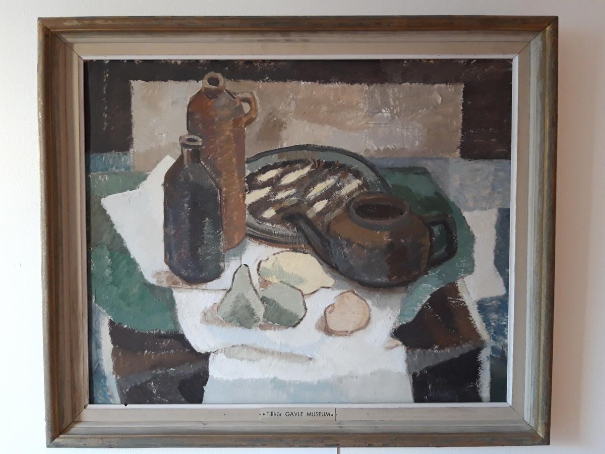Målning, olja, stilleben. Signerad M. Östberg.