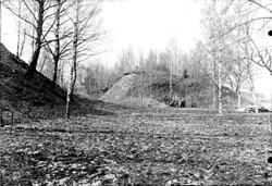 Gravfältsområde, omedelbart norr om Ströbohög, före renoveri
