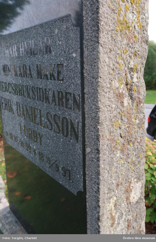 Fotoprotokoll Acc.nr. OLM-2020-46  Objekt: Inventering av kulturhistoriskt värdefulla gravvårdar i samband med upprättade av vård- och underhållsplan för Lindesbergs norra kyrkogård, avseende kulturhistoriska värden.  Stad: Lindesberg Socken: Linde socken Kommun: Lindesbergs kommun Län: T År: 2020  Bild 1-50: Gravvårdar med kulturhistoriskt värde i kvarter 1, 2 och 5 på norra kyrkogården i Lindesberg   Foto:1-50: Charlott Torgén, Örebro läns museum  Diarienr. 2016.230.126