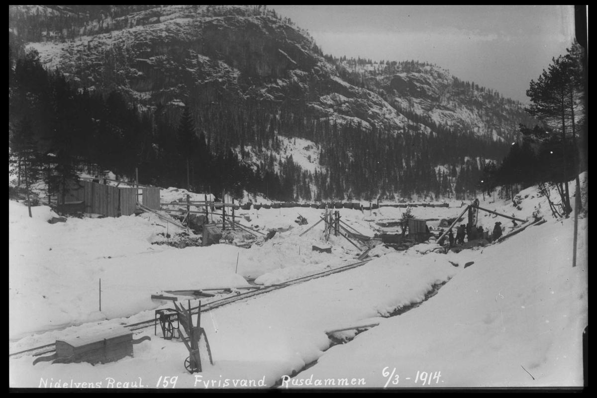Arendal Fossekompani i begynnelsen av 1900-tallet CD merket 0446, Bilde: 44 Sted: Storstraumene Beskrivelse: Regulering