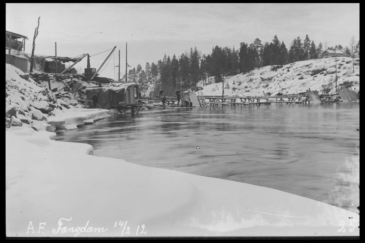 Arendal Fossekompani i begynnelsen av 1900-tallet CD merket 0565, Bilde: 96 Sted: Haugsjå Beskrivelse: Fangdam