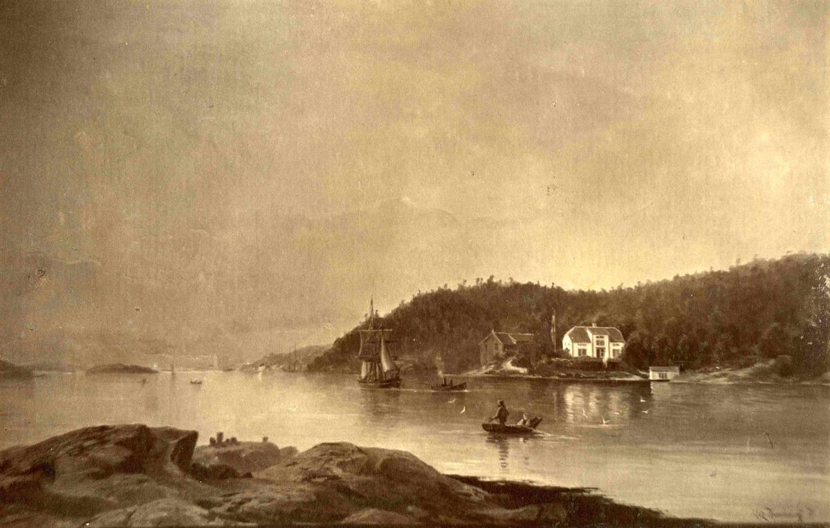 Slaabevig på Hisøy etter maleri av C. Rummelhoff