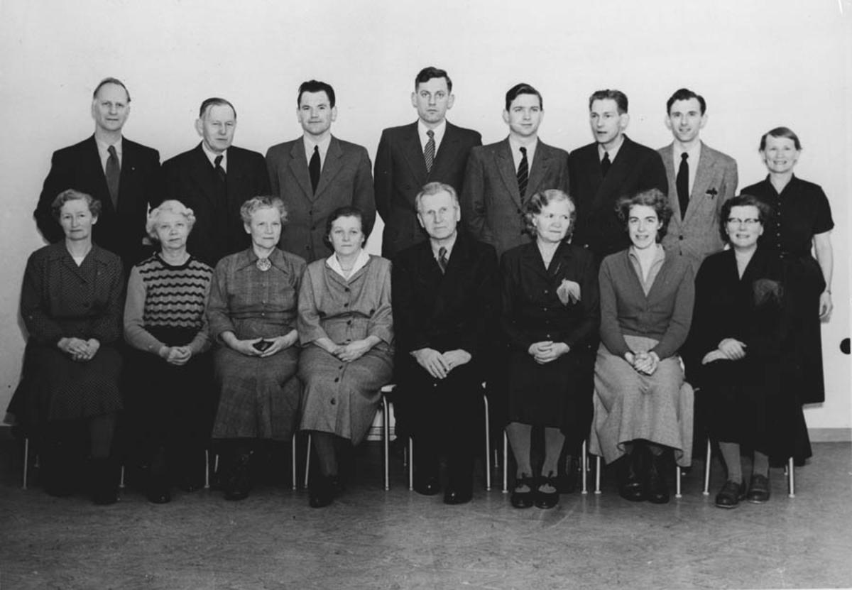 Lærerpersonalet ved Ski skole 1955