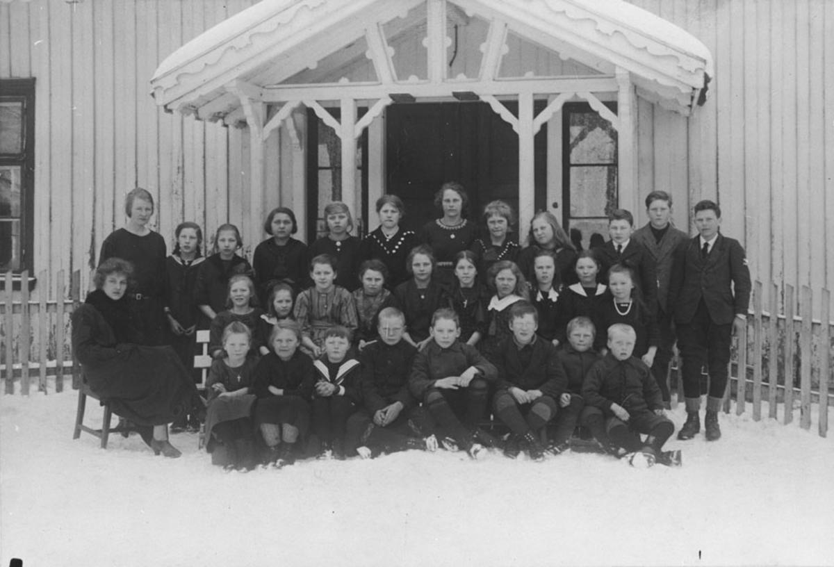 Elever ved Kloppa (Bjerke) skole i Kråkstad