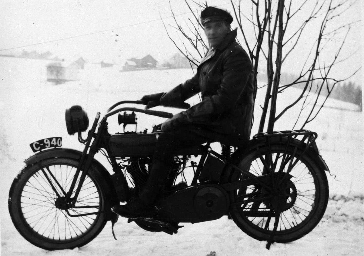 Motorsykkel Reg.nr. C940, Erl. Evensen