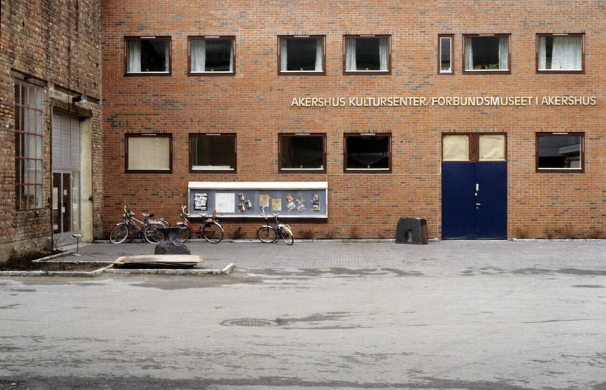 Fasaden til Akershus Kultursenter/Forbundsmuseet i Akershus (Akershusmuseet), eksteriør