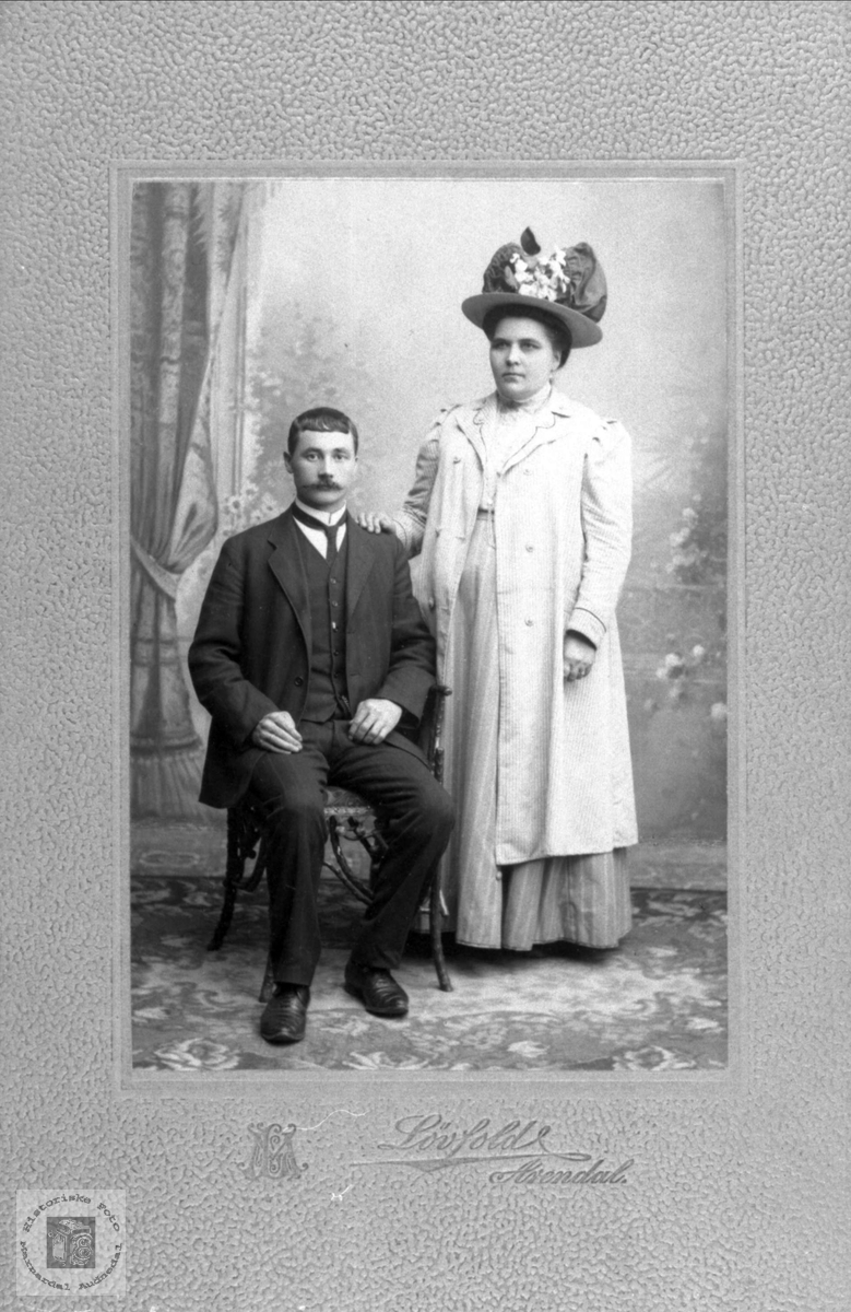 Portrett av ukjent ektepar fra Marnardal eller Audnedal.