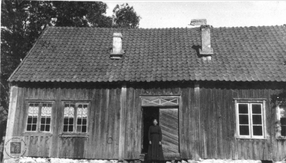 Gammelt hus på Berget/ Monen, Laudal.