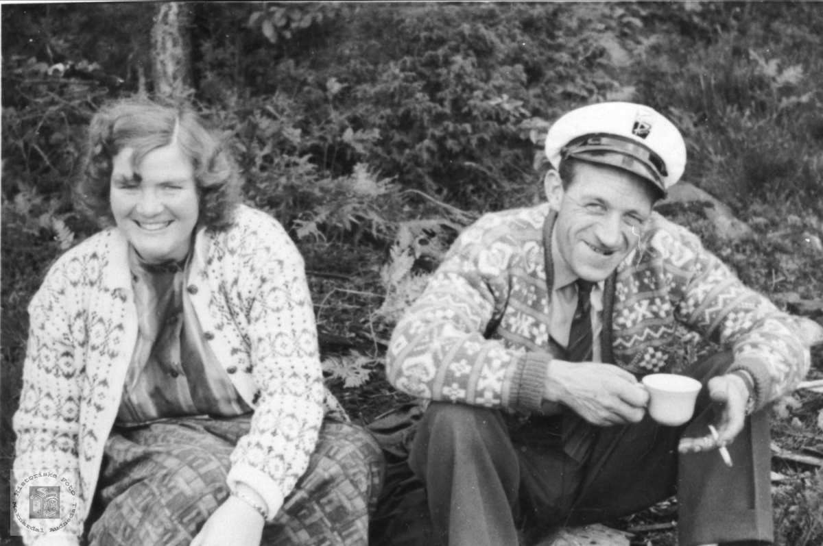 Personer. Todne og Kåre Hallingsgård. Laudal.