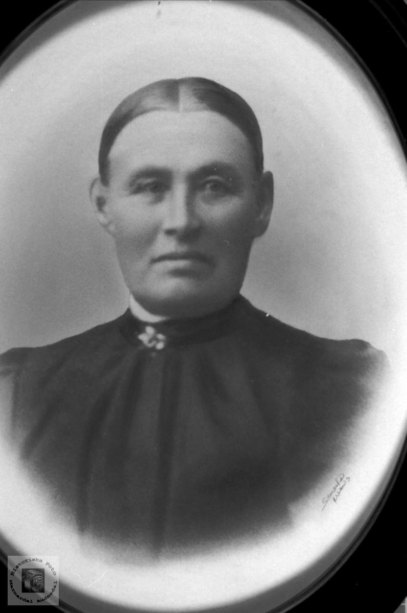 Portrett av Dina Hønneland, Laudal.