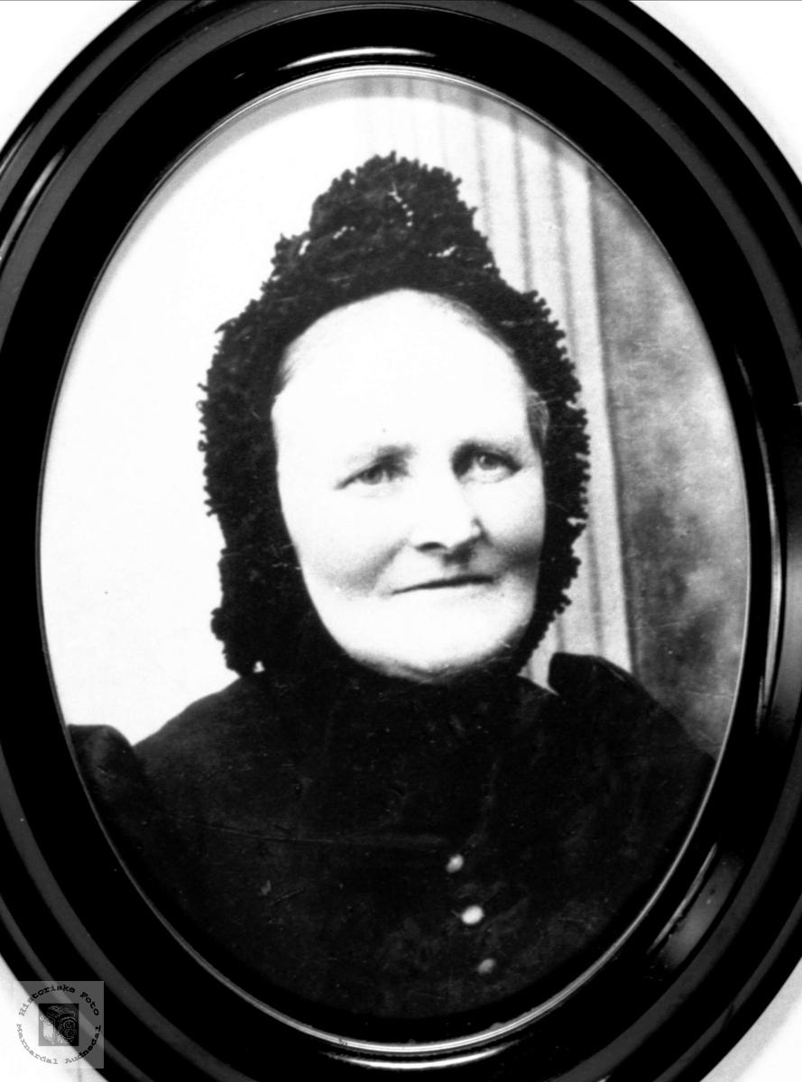 Portrett av Gunnhild Skjævesland, Øyslebø.