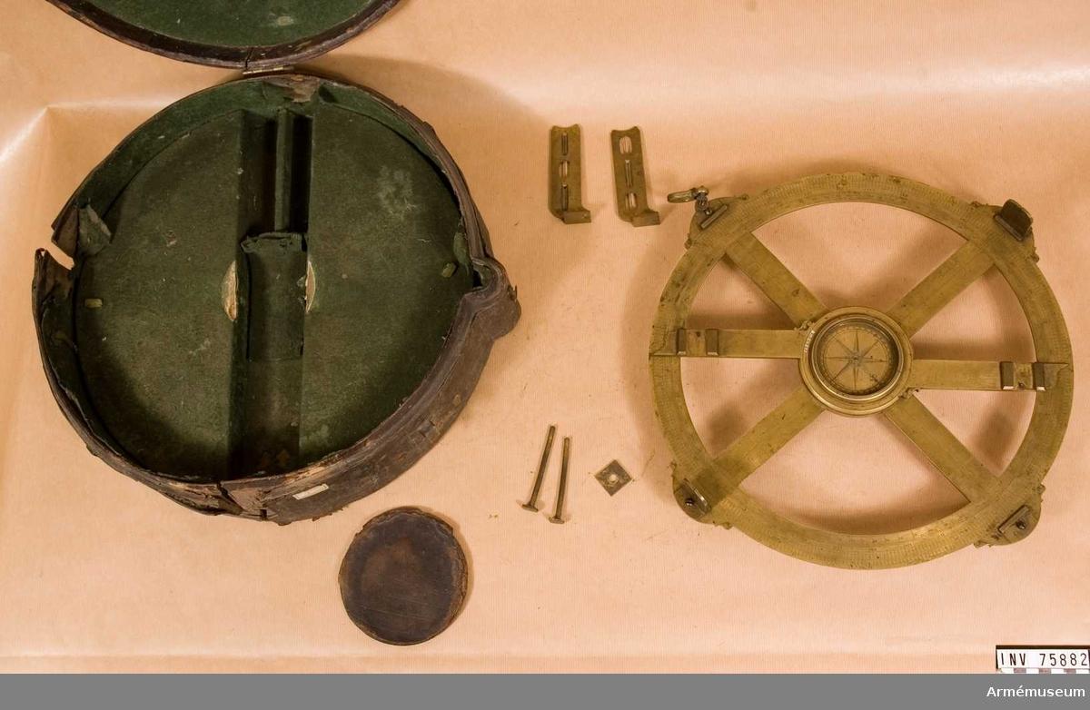Grupp G IV. Astrolabium med två lösa diopter, italienskt 1700-tal?