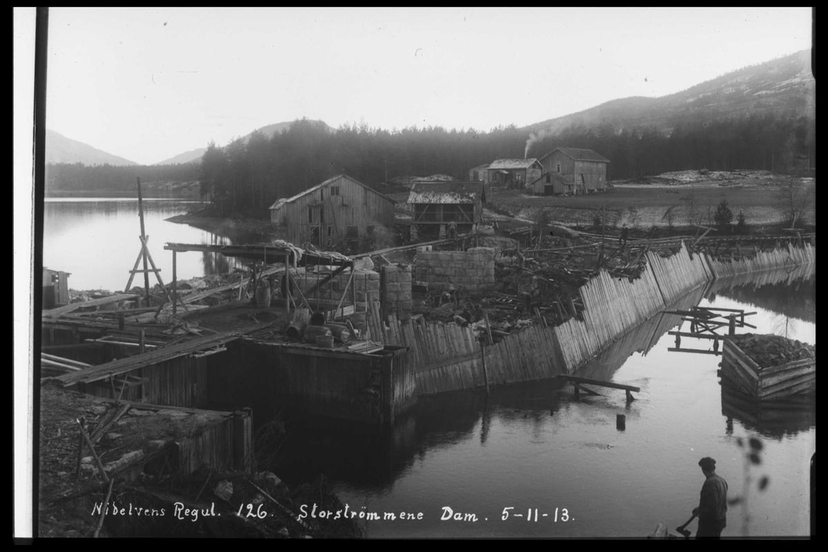 Arendal Fossekompani i begynnelsen av 1900-tallet CD merket 0446, Bilde: 41 Sted: Storstraumene Beskrivelse: Regulering