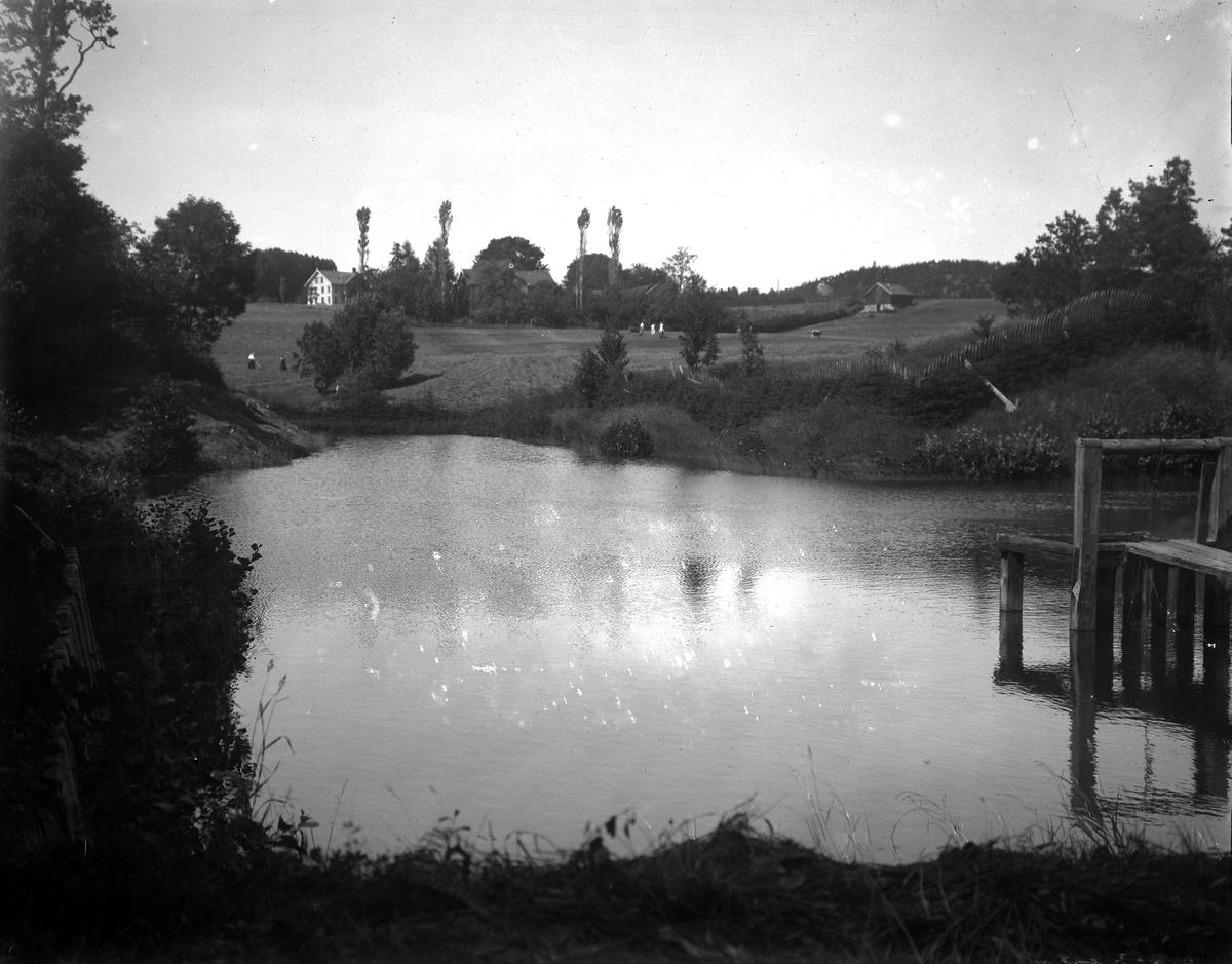 Dømmesmoen Oversikt over eiendom, Sannsynligvis Dybdalsdammen som lå lengre nede enn dammen som ble anlagt ved eika.