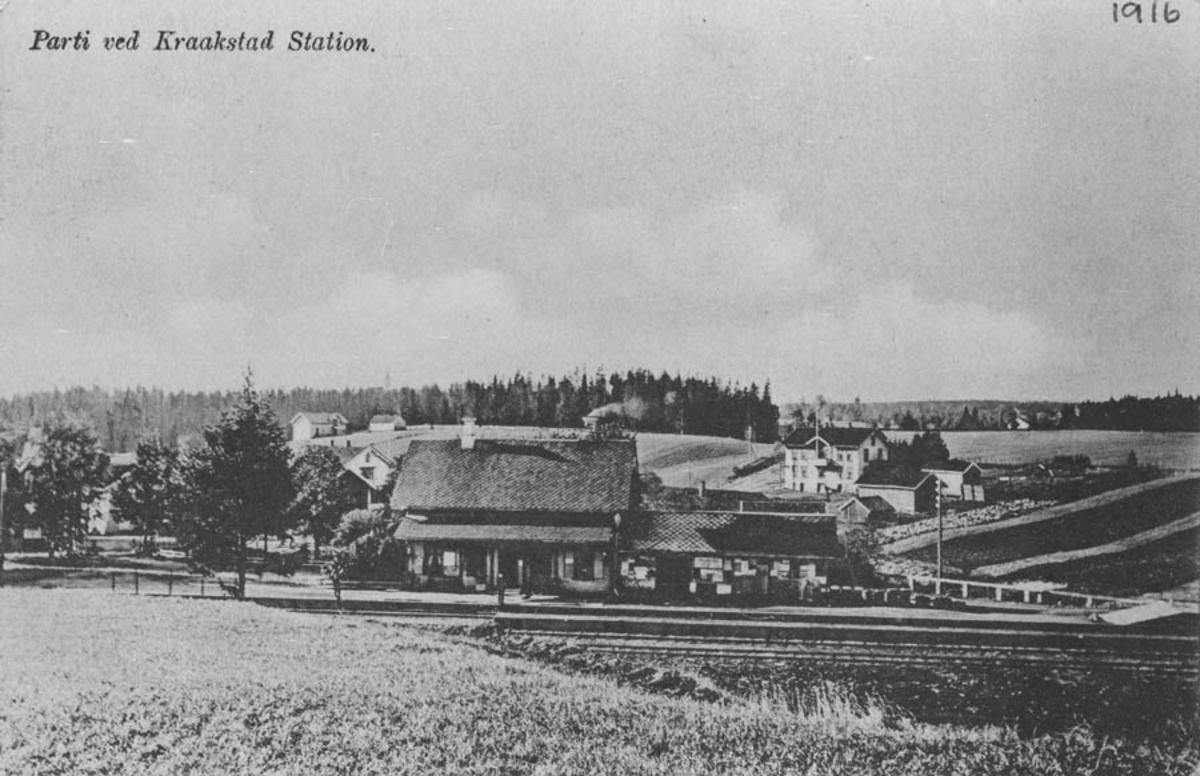 Parti ved Kraakstad Station