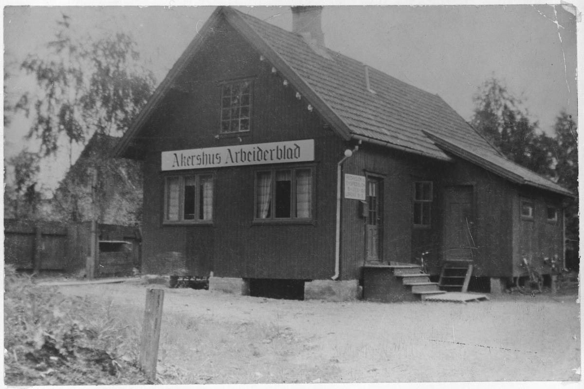 """Redaksjonslokalene til """"Akershus Arbeiderblad"""""""